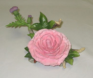 Old Fashioned Rose With Thistle F218