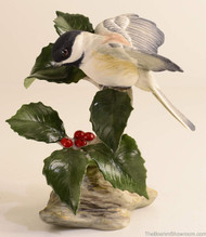 Boehm Chickadee With Holly Hallmark 40427