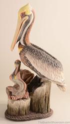 Boehm Pelican Family (Brown) Hallmark 40468D