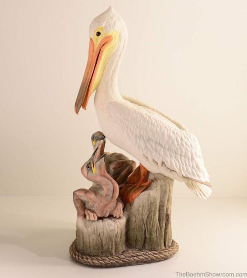 Boehm Pelican Family (White) Hallmark 40468W