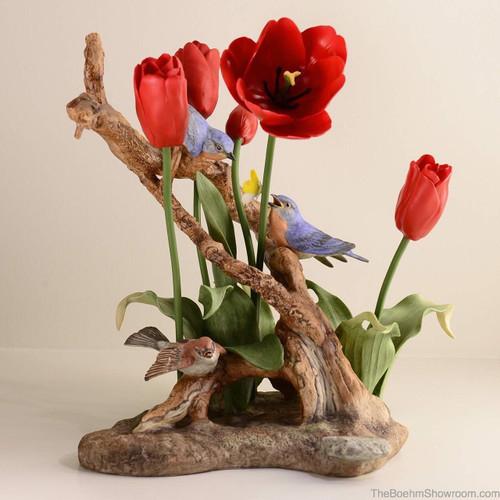 Boehm Nature's Harmony (Red Tulips) Hallmark 40593R