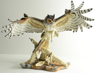 Great Horned Owl On Fence (10205) - $10,500.00