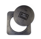Catch Cover Square Hole Covers keep dirt and slush out of your Fish House while traveling.