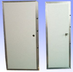 Fish house doors for Aluminum fish house frame