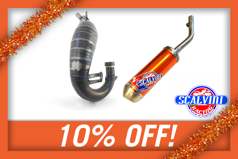 10% OFF SCALVINI FRONT PIPES/SILENCERS!