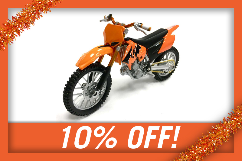 10% OFF KTM SX 525 MODEL TOY 1-18 SCALE