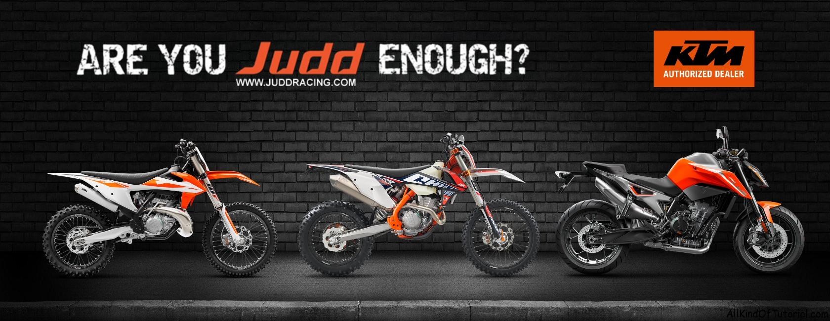 JUDD RACING KTM RANGE