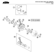 99  - 00050002318 - OEM Crankshaft Repair Kit KTM 85SX 105SX 2003-18 Husqvarna TC85 2014-18