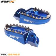 RFX Tooth Foot Pegs KTM Husqvarna Blue fits 85SX TC85 2018> 125 2016>