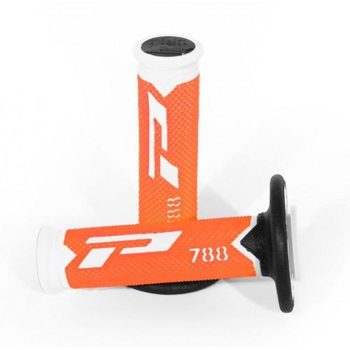 Fluorescent Orange Pro Grip 788 Triple Density Full Diamond Grips PG788