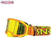 RnR Platinum Tear Off Goggles - Mirror  Lens Neon Orange