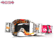 RnR Platinum WVS System Roll Off Goggles 48mm - Red Tattoo