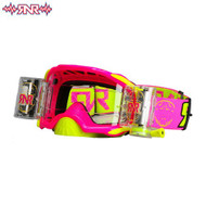RnR Platinum WVS System Roll Off Goggles 48mm - Neon Pink