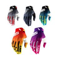 100% RIDEFIT Glove (Black, Black/White, Cyan/Black, Pink/Purple, Red/Yellow)
