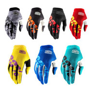 100% Adult iTRACK Gloves (Heather, Charcoal, Fire Red, Yellow, Teal, Blue, Black Camo)