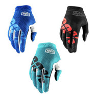 100% Youth iTRACK Gloves (Teal, Blue, Black Camo)
