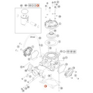 KTM OEM Cylinder Base Gasket 0.25mm 47230035025