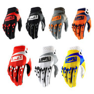 100% Adults Airmatic Gloves (Black, Orange/Navy, Black/Red, Yellow, Red/White, Grey, White/Black)