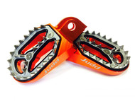Judd Racing Shark Tooth Foot Pegs Orange, KTM 85 2018, 2019 KTM 125, 250, 450 2016>