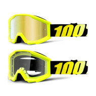THE STRATA JR - Neon Yellow (Mirror Gold Lens, Clear Lens)