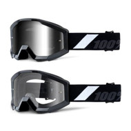 THE STRATA JR Goggles - Goliath - (Mirrored Silver Lens, Clear Lens)