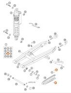 KTM OEM SPECIAL SCREW M 5,0X10 SX65 2002-2015 (0010050103)