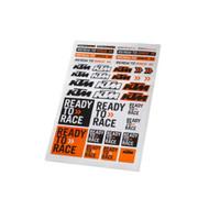 KTM OEM Corporate Sticker Sheet