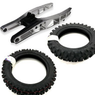 65 Evolution Extended Swing Arm & Tyre Kit - Extra Wide Front & Extra Wide Rear Tyres