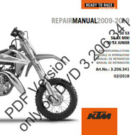 KTM OEM DVD Repair Manual 50SX/50SX MINI 2009-2019 (3206341)