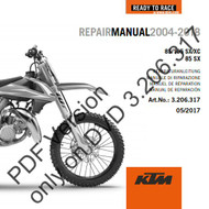 KTM OEM DVD Repair Manual 85SX 2004-2017 (3206317)