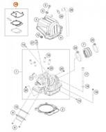 KTM OEM Cylinder Gasket Set SX-F/FC 450 16> and EXC-F/FE 450/500 17> (79430097100)