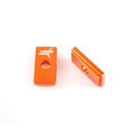 Chain Adjuster Blocks KTM 50, TC 50 Orange