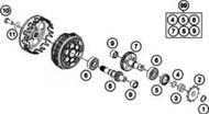 OEM O-Ring Counter Shaft KTM 50 SX 2009-2018  Husqvarna TC 50  2017-2018  0770015018