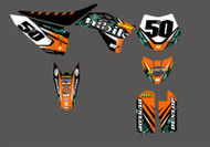 Special Offer Nihilo Concepts Complete Graphics Kit KTM 50 JUDD Custom Backgrounds