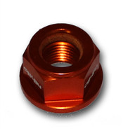 KTM 50/65 12MM Orange Ny-Lock Self Locking Axle Nut