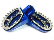 Judd Racing Shark Tooth Foot Pegs Blue KTM, Husqvarna