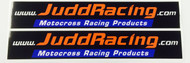 JUDD RACING SWING ARM STICKERS