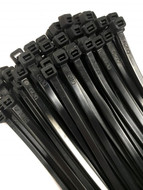 Cable Ties Black, 300mm x 100 in pack