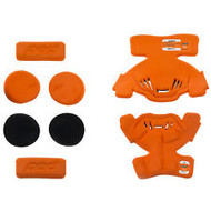 POD K1 Knee Brace Pad set RIGHT SIDE in Orange/ Black Youth Medium