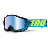 100% ACCURI GOGGLES - MIRROR R-CORE - MIRROR BLUE LENS