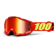 100% ACCURI GOGGLES - SAARINEN - MIRROR RED LENS