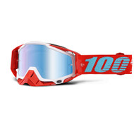 100% RACECRAFT GOGGLES - KEPLER - MIRROR BLUE LENS
