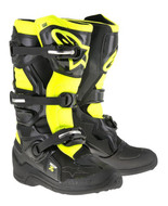 ALPINESTARS TECH 7S YOUTH BOOT BLACK/YELLOW FLO