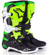 Alpinestars Tech 10 Adult Boot Le Vegas Black/White/Green/Flo Yellow - A10014102509