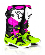Alpinestars Tech 10 Adult Boot Radiant Black/Pink/Flo Yellow - A10014139509