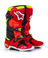 Alpinestars Tech 10 Adult Boot Torch Red/Black/Yellow Flo - A1001431609