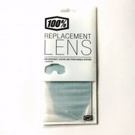 100% Replacement Goggle Lens - Mirror Green, Anti Fog, With Posts