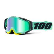 100% Racecraft Goggles - Kloog - Mirror Green Lens