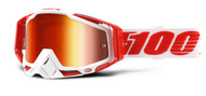 NEW 2018 100% Racecraft Goggles - Bilal - Mirror Red Lens