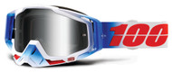 NEW 2018 100% Racecraft Goggles - Fourth - Mirror Silver Lens
